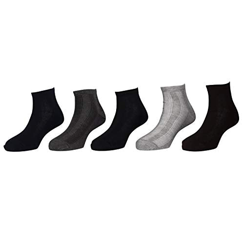 Health ankle socks - Assorted Pack of 5 - Stitched with special technology for best comfort - Soft elastic - 01