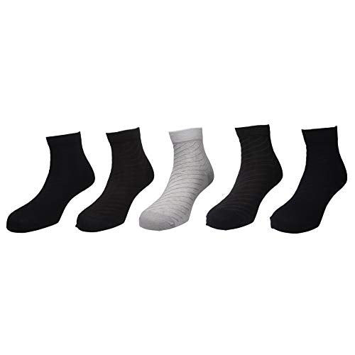 Status socks - Assorted Pack of 5-100% Cotton Spandex Socks - Men - 04