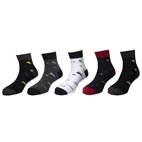 Status socks - Assorted Pack of 5-100% Cotton Spandex Socks - Men - 03
