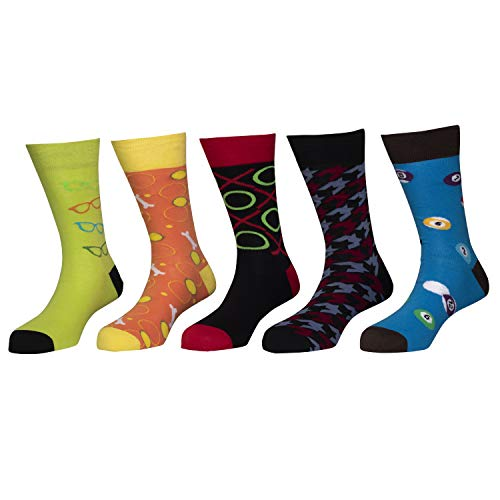 Happy socks - Assorted Pack of 5 - Combed 100% Cotton Spandex Socks - 02