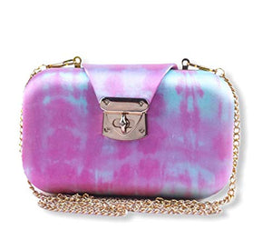 Boho Chic Water Grey Pink - Women's Clutch- Exquisite Clutch - Designer Patterns & Colour Options