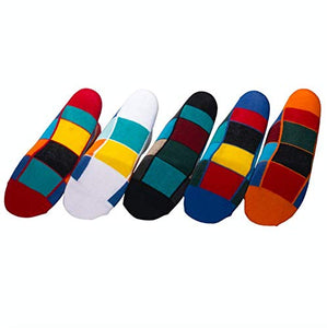 Status socks - Assorted Pack of 5-100% Cotton Spandex Socks - Men - 01