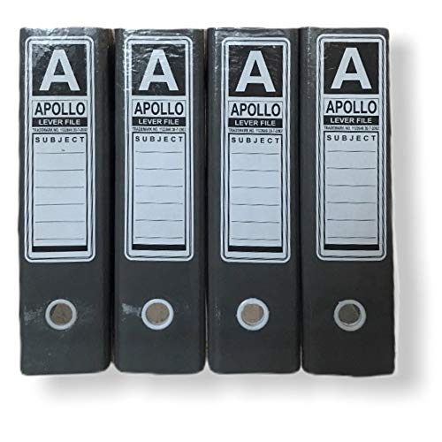 Office Box File (Pack of 4) - Lever Arch File for File Documentation