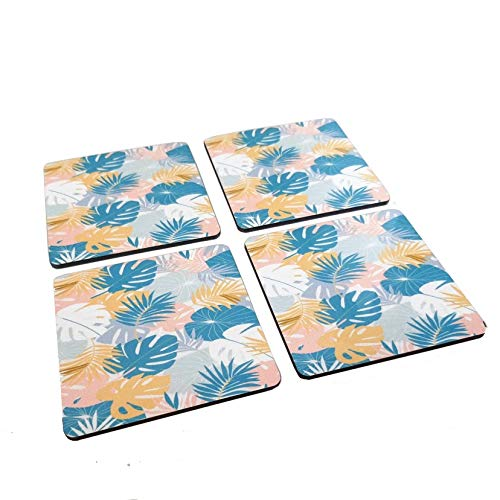 Tropical Forest - Set of 4 - Artistic Wooden Coasters - Easy to Clean & Durable Water Resistant Coating