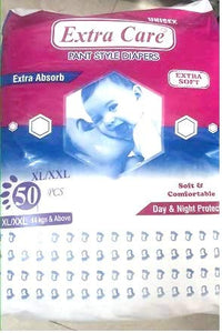 Extra Care Pant Style Baby Diapers - Pack of 50