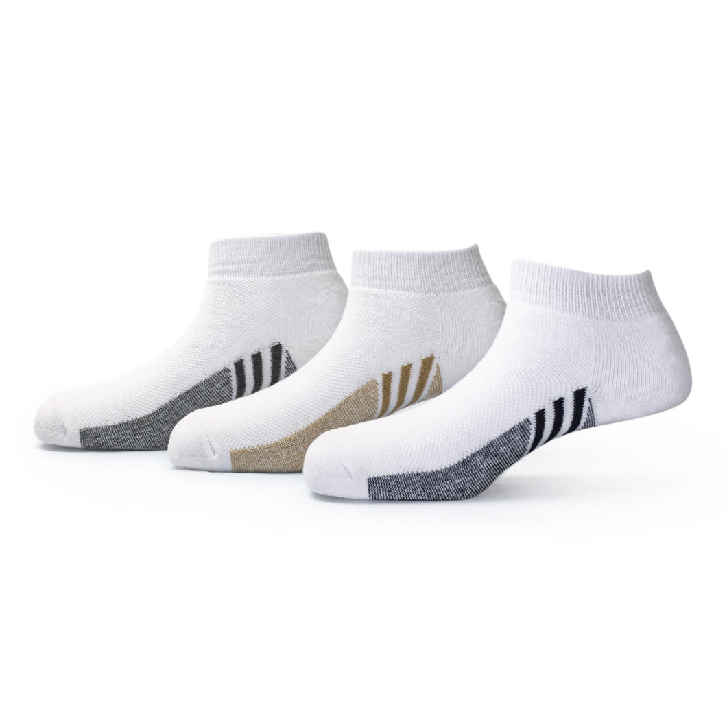 Players (6) - Assorted Pack of 3 - 100% Cotton Spandex Premium Quality Sports Ankle Socks