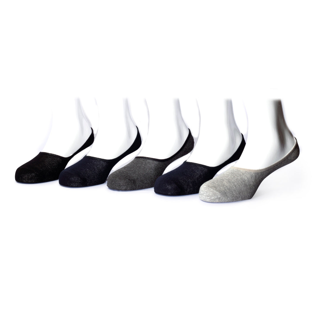 No Show Loafers (3) - Assorted Pack of 5 - 100% Cotton Spandex Premium Quality