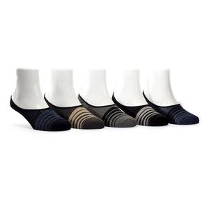 No Show Loafers (6) - Assorted Pack of 5 - 100% Cotton Spandex Premium Quality