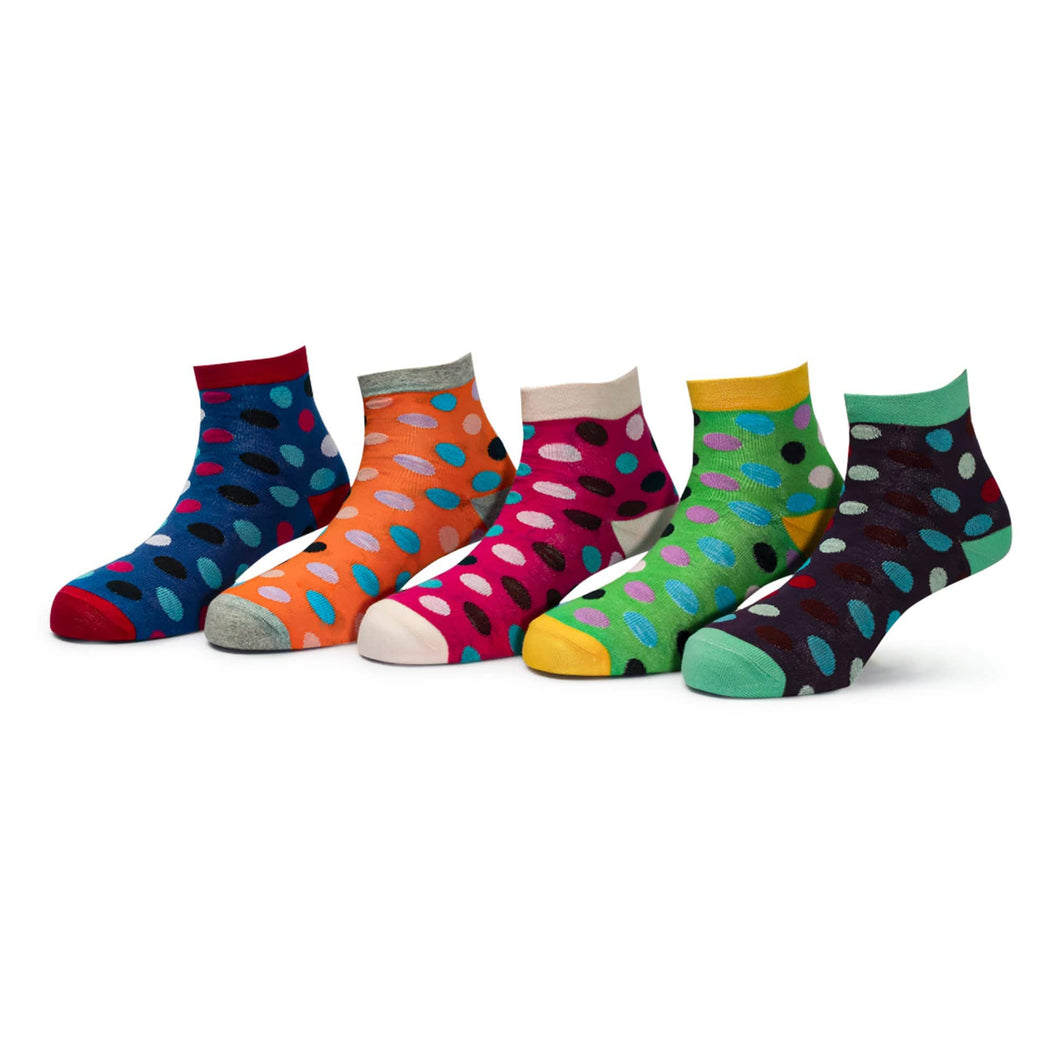 Tango (4) - Assorted Pack of 5-100% Cotton Spandex Premium Quality Socks - Women