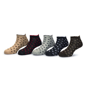 Tango (7) - Assorted Pack of 5 - 100% Cotton Spandex Premium Quality Socks For Women