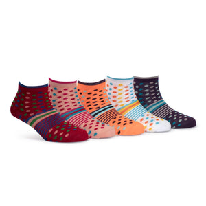 Tango (5) - Assorted Pack of 5-100% Cotton Spandex Premium Quality Socks - Women