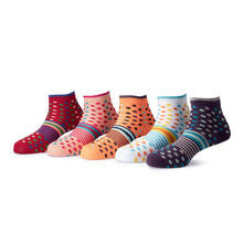 Load image into Gallery viewer, Tango (5) - Assorted Pack of 5-100% Cotton Spandex Premium Quality Socks - Women