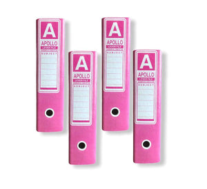 Shakti - Pack of 4 Lever Arch Box Files (Pink)