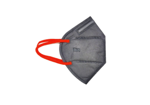 Pack of 3 - Oxyguard N95 Masks - Comfortable Fit with Nose Clip - Anti Fog - Grey & Red (Without Filter)