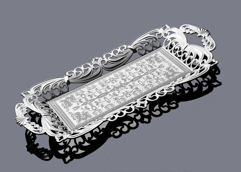 Tuleen Rectangular Silver tray