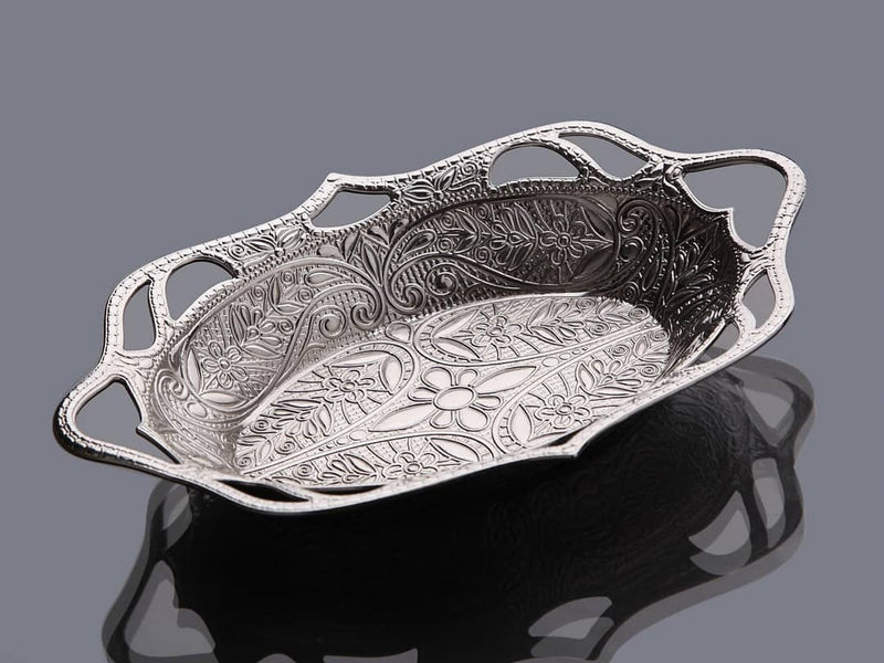 Tulip Silver snack serving plate