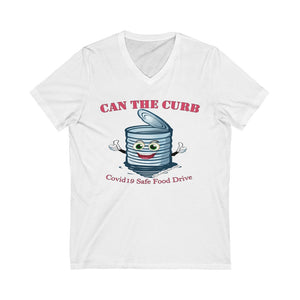 Unisex Jersey Short Sleeve V-Neck Tee | Can The Curb | Covid-19 Safe Food Drive