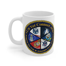 Load image into Gallery viewer, MUG 11 OZ | US Vet Connect Inc | Double Logo | Bridging the Gap | Triumph over Tribulation
