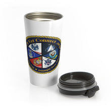 Load image into Gallery viewer, Stainless Steel Travel Mug | US Vet Connect Inc | Bridging the Gap | Triumph over Tribulation