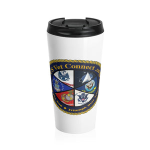 Stainless Steel Travel Mug | US Vet Connect Inc | Bridging the Gap | Triumph over Tribulation