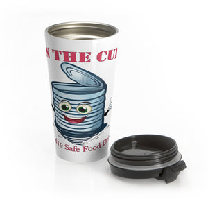 Stainless Steel Travel Mug | Can the Curb | Covid-19 Safe Food Drives
