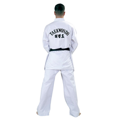 10200 WTF Taekwondo White Lapel - Poly Cotton Dobok