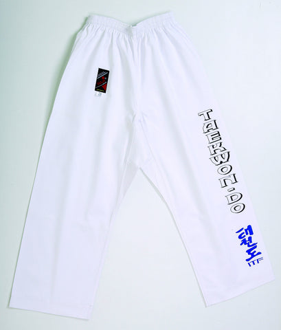 10227 Casual Taekwon-Do ITF Pants White - ***SPECIAL !***