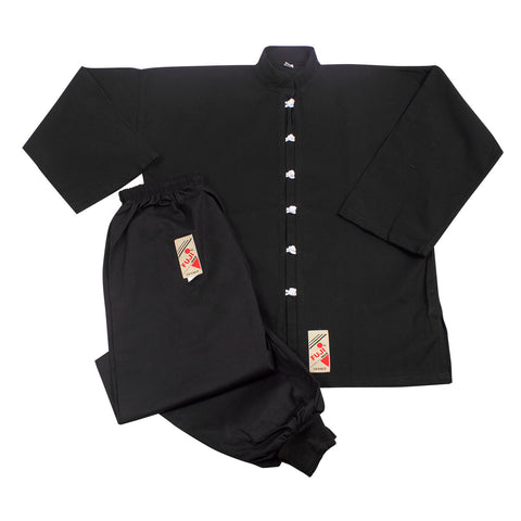 10610 Kung Fu Uniform - Black with White buttons