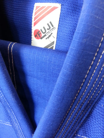 "10405500 BJJ Fuji Pro ""ORIGINS"" Blue Gi with Rip Stop Pants"