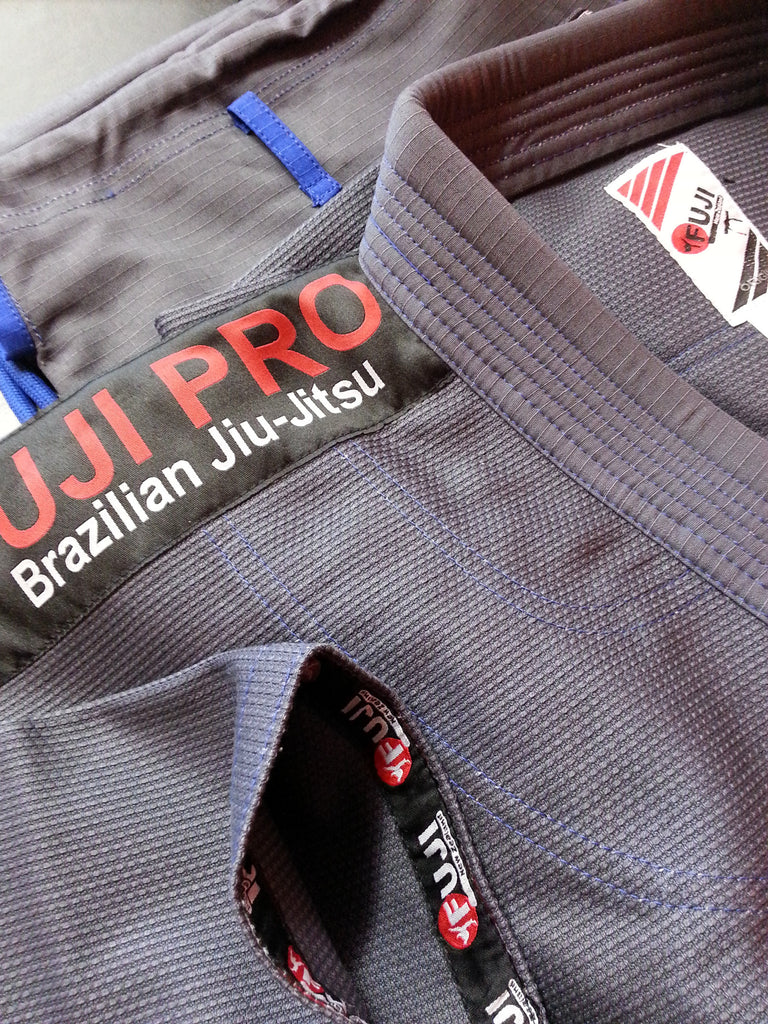 "10405800 BJJ Fuji Pro ""ORIGINS"" Grey Gi with Rip Stop Pants"