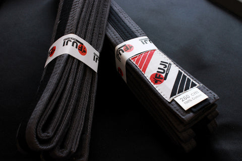 BJJGREY/BLK BJJ Junior Belt - Grey with Black Stripe