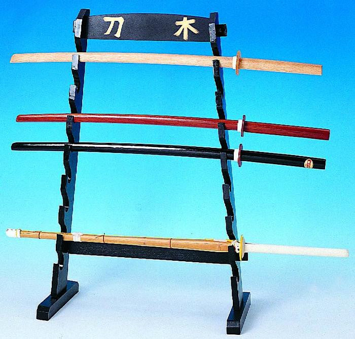 Sword Display Rack Made Of Wood Holds 8 U