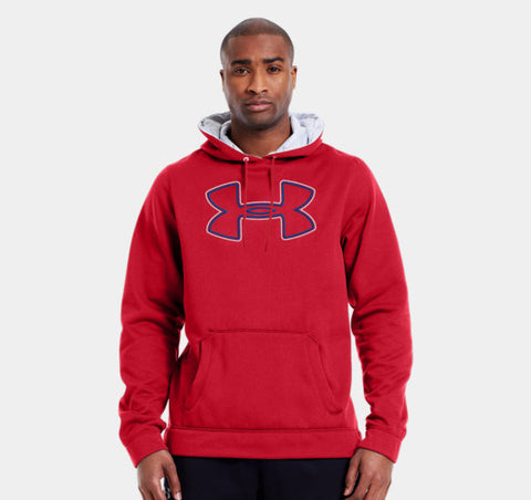 1240418-600 UNDER ARMOUR MEN'S ARMOUR® FLEECE STORM OUTLINE BIG LOGO HOODIE