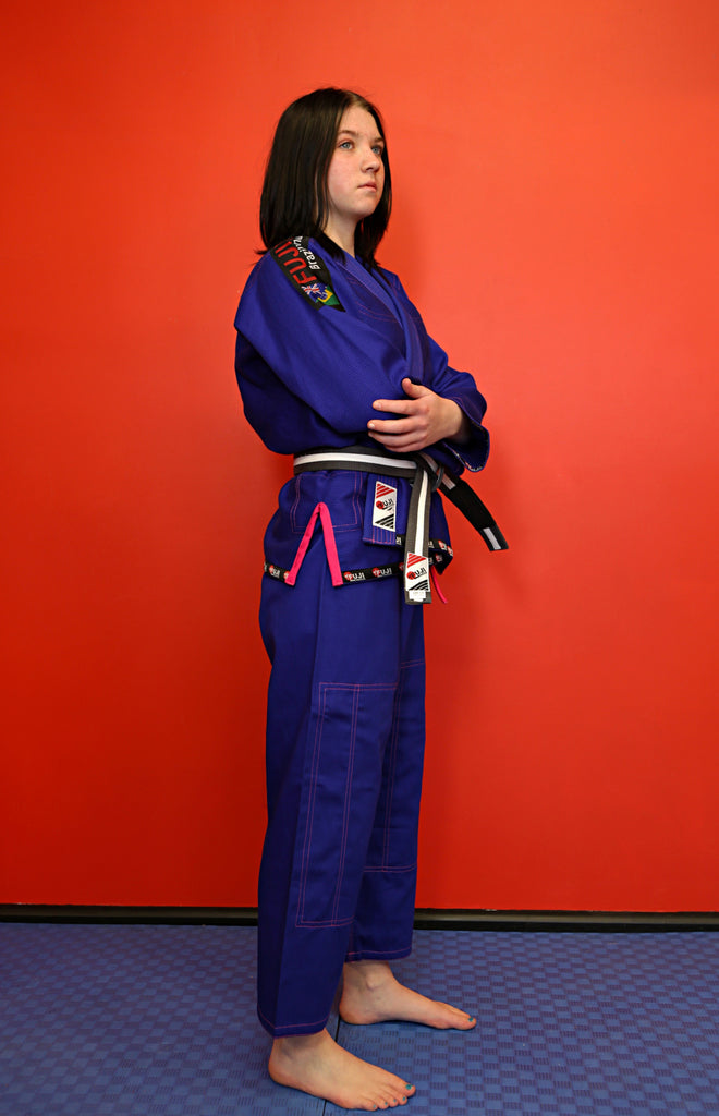 "10405500PS BJJ Woman's Fuji Pro ""ORIGINS"" Blue Gi with Rip Stop Pants"