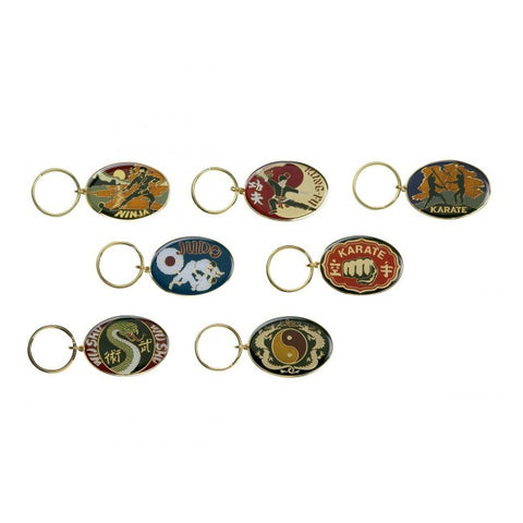 33450 Metal Keyrings Oval - All Styles