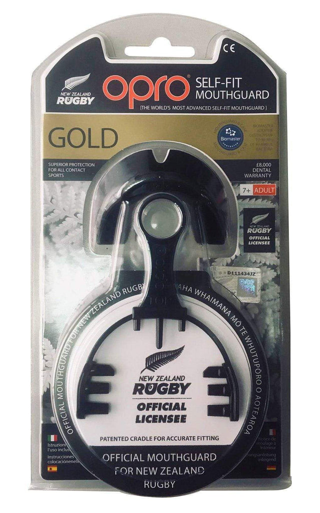 Opro F3317      ~ OPRO NZR GOLD MOUTHGUARD BLACK