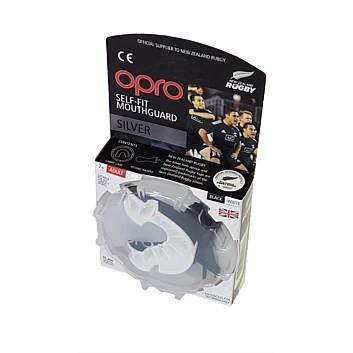 Opro F3411      ~ OPRO NZR SILVER MOUTHGUARD BLK New zealand nz vaughan