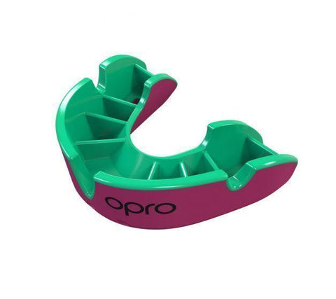 Opro MULTI-ITEM Pink/Green F3424      ~ OPRO SILVER MOUTHGUARD JUNIOR New zealand nz vaughan