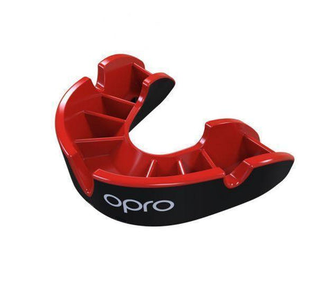 Opro MULTI-ITEM Red/Black F3424      ~ OPRO SILVER MOUTHGUARD JUNIOR New zealand nz vaughan