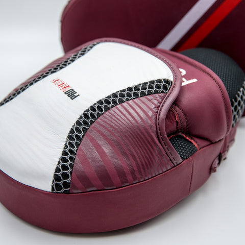30131 PROSERIES LEATHER FOCUS MITTS - Blue & Maroon
