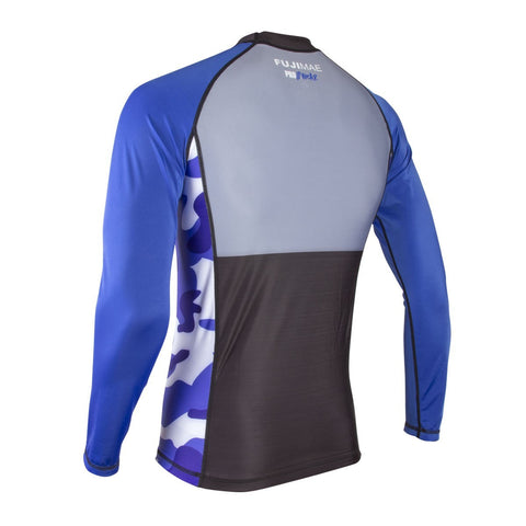 11913 Prowear MMA Rash Guard LONG SLEEVES BLUE/BLACK