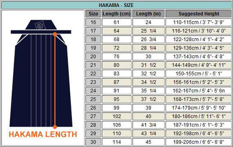 11111 Hakama Polyester Cotton Black