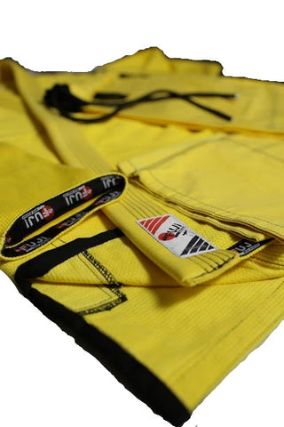 10405200 BJJ Pearl Weave Yellow Gi with Rip Stop Pants