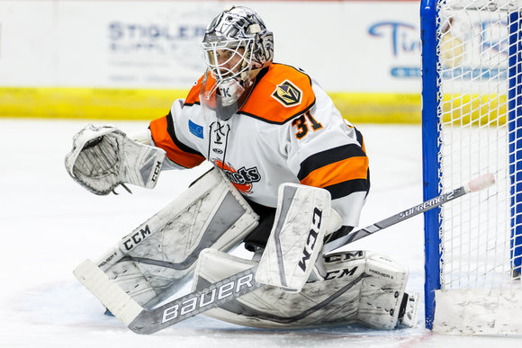 Game Worn 2019-2020 White Komets Jersey - #31 COLE KEHLER