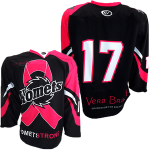 "Komets Pink the Rink Jersey - ""17"""