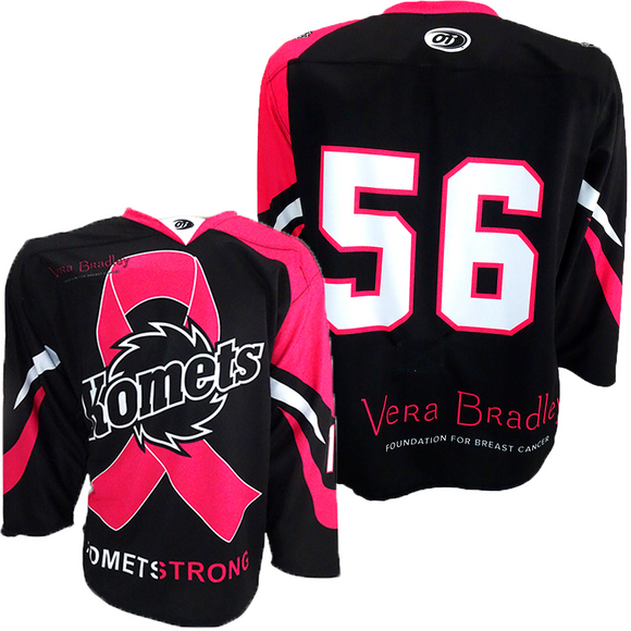 Komets Pink the Rink Jersey -