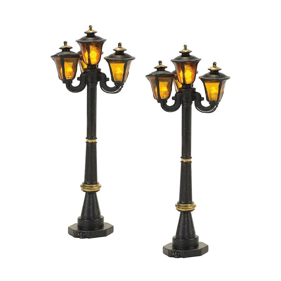 DEPARTMENT 56 VILLAGE ACCESSORIES SET OF 2 VICTORIAN STREET LAMPS