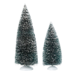 DEPARTMENT 56 BAG-O-FROSTED TOPIARIES 2 PIECE SET