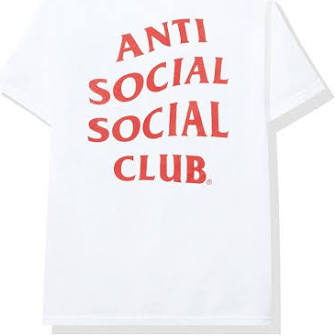 Anti social social club white red tee