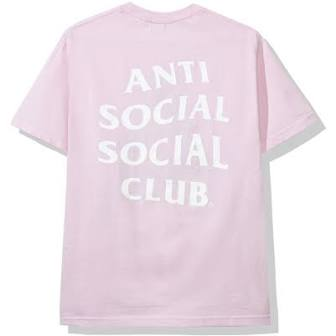 Anti Social Social Club Logo 2 T-Shirt 'Pink